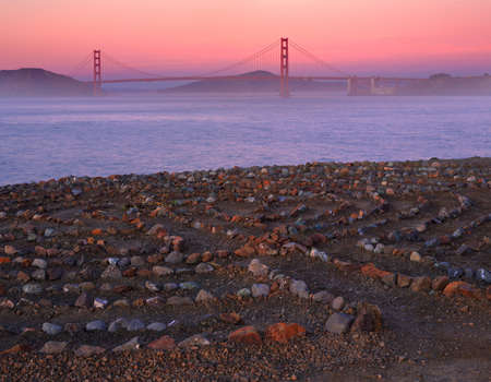 recreation area: Lands End is a park in San Francisco within the Golden Gate National Recreation Area. Stock Photo