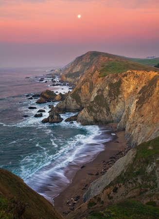 suelo arenoso: Point Reyes national seashore is just an hour north of San Francisco. Foto de archivo