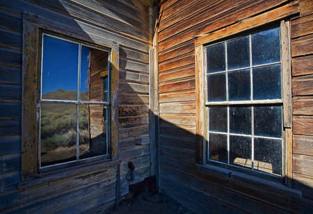 sierras: Bodie is a historic ghostown by highway 395 in the Eastern Sierras. Stock Photo