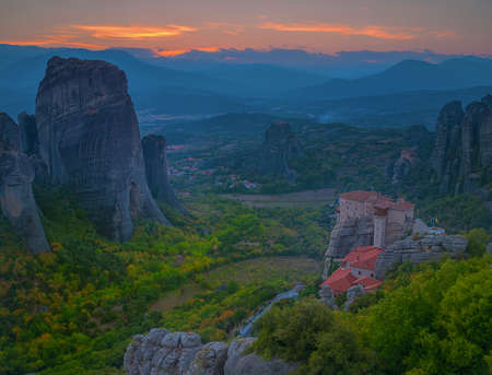 greece granite: Meteora, Kalambaka Greece Stock Photo