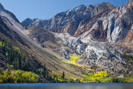 sierras: Convict lake is an alpine lake in the Eastern Sierras close to the highway 395.