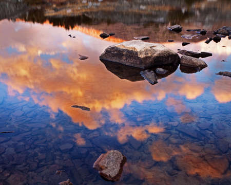 sierras: Sky Reflection on a lake in Yosemite National Park