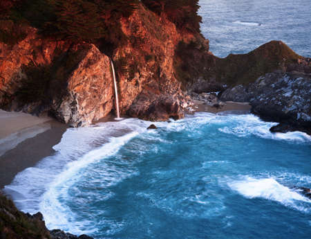 McWay Falls is a water in the Pffeifer Burns State Park in Big Sur California.