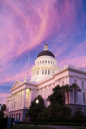 The State Capitol of California in Sacramento Stock Photo