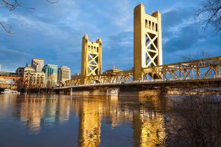 The Old Sacramento Bridge Archivio Fotografico