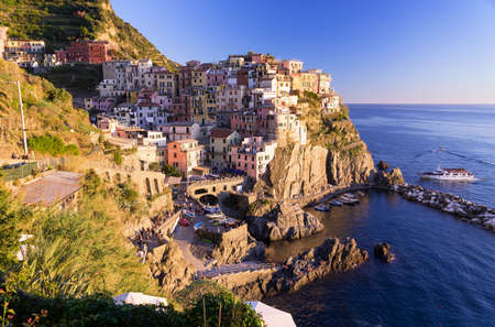 Beautiful Italian Town of Vernazza Stock Photo