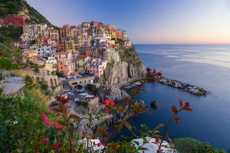 Vernazza is one of the five communes that make up the Cinque TErre Stock Photo