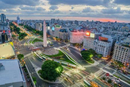 De hoofdstad van Buenos Aires in Argentinië
