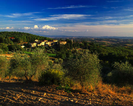 Tuscany is a popular wine region in Italy. Stock Photo