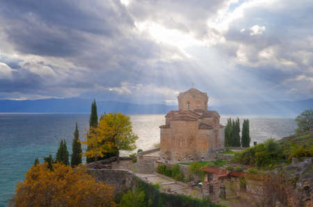 The Church of Saint John at Kaneo, Lake Ohrid Macedonia Stock Photo