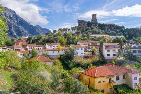アルバニアの Kruje の町