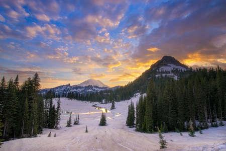 Tipsoo Lake and Mt. Rainier Stock Photo - 103444882