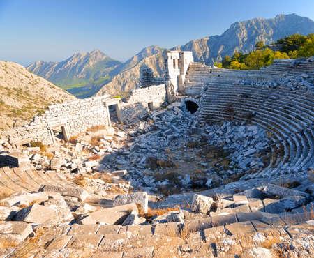 The Ancient Greek Ruins of Termessos in Turkey Reklamní fotografie - 108148291