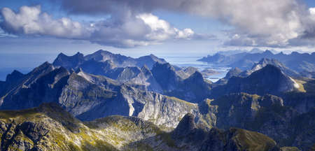 Hermannsdalstinden Summit in the Lofoten Islands Norway Stock Photo