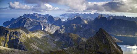Hermannsdalstinden is the highest peak in the moskenes region in the Norway.