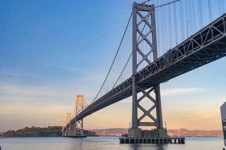 The Bay Bridge of Oakland and San Francisco