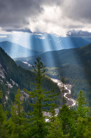 God Rays Emitting Through the Nisqually River