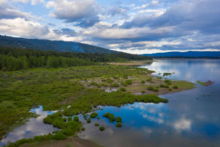 Cle Elum Lake in late afternoon clouds