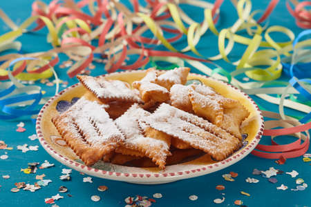 bugie: chiacchiere, traditional italian carnival pastry