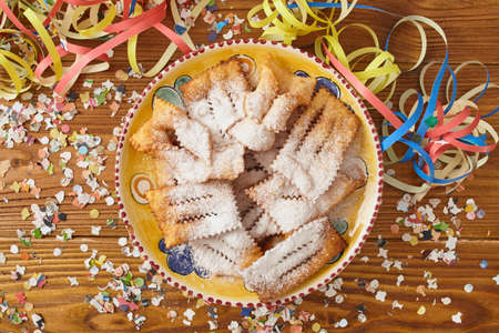crostoli: chiacchiere, traditional italian carnival pastry