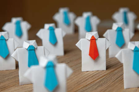 Search and selection of  good worker Leader. HR, HRM, HRD concepts Stock Photo
