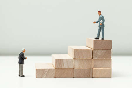 Stairs up as a symbol of career growth up or business success