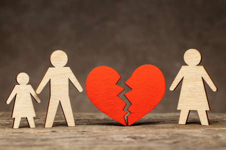 Divorce in a family with children. Mom left the family and left dad with the baby