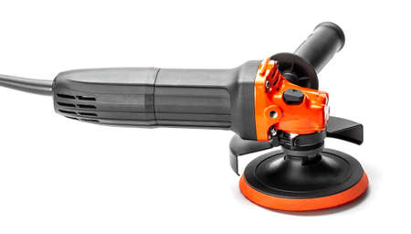 Angle grinder orange with black isolated on white background