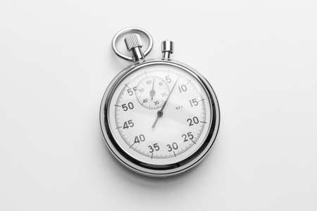 Stopwatch on gray background