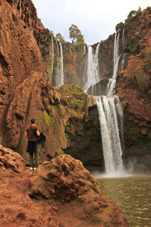 Beautiful waterfalls of Ouzoud, Morocco photo