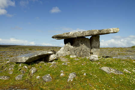 Landscape of the Poulnabrone megalithic tomb in the Burren, Ireland. Stock Photo - 13660325