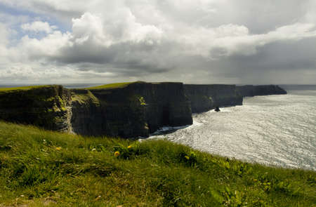 moher: View of The Cliffs of Moher, Ireland Stock Photo
