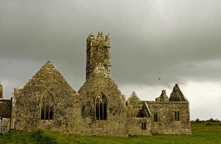 Overcast landscape of Ross Friary, Ireland Stock Photo - 13687598