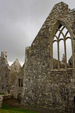 Overcast landscape of Ross Friary, Ireland  Stock Photo - 13687624