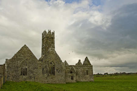 Overcast landscape of Ross Friary, Ireland. Stock Photo - 13660333
