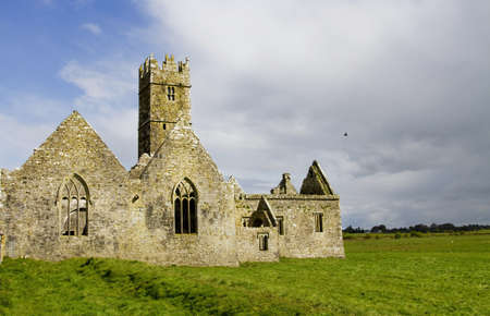 Overcast landscape of Ross Friary, Ireland. Stock Photo - 13660330