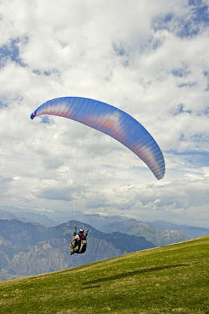 Paragliding on Mount Baldo, Verona, Italy Stock Photo - 14003406