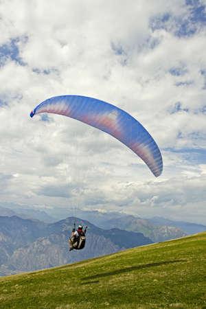 Paragliding on Mount Baldo, Verona, Italy Stock Photo - 14003406
