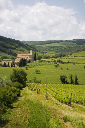 antimo: Antimo s Abbey in Tuscany, Italy Stock Photo