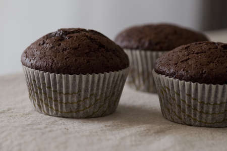 muffins de chocolate photo