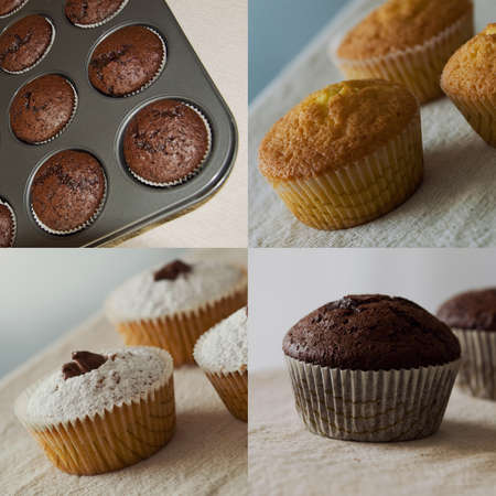Muffin collage photo