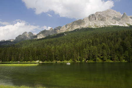Lake of the Dolomites, Trentino Alto Adige photo