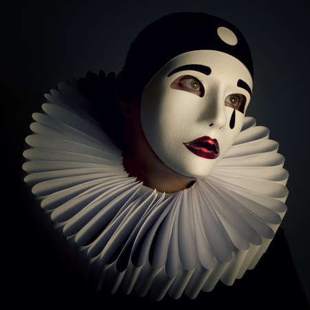 Pierrot mask Standard-Bild