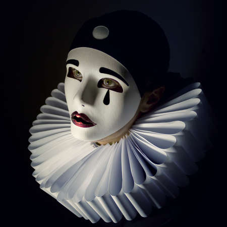 pierrot: Pierrot mask Stock Photo