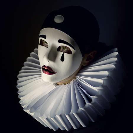 Pierrot mask Zdjęcie Seryjne