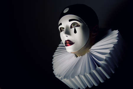 Girl with mask Pierrot photo