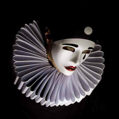 Pierrot mask photo