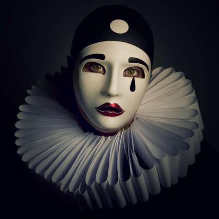 Pierrot Stockfoto