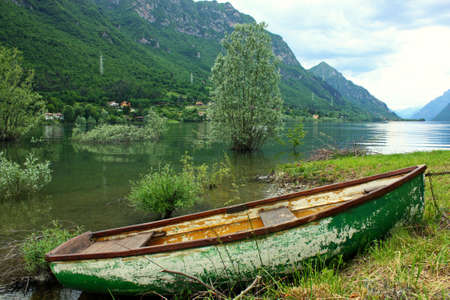 boats in the lake photo