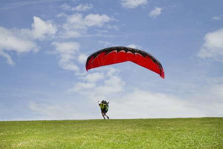 Paragliding on the mountain Stock Photo - 14646709